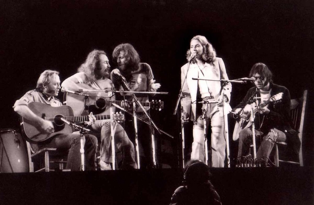 Crosby, Stills, Nash & Young with Joni Mitchell: singing to a lost generation?